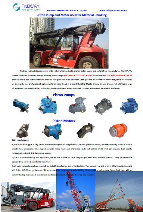 Piston Pumps and Motors used for Materials Handling